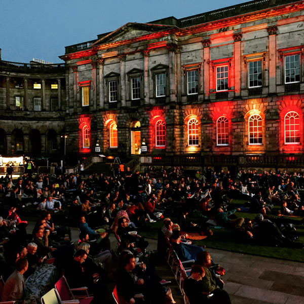 Film in the Old College Quad